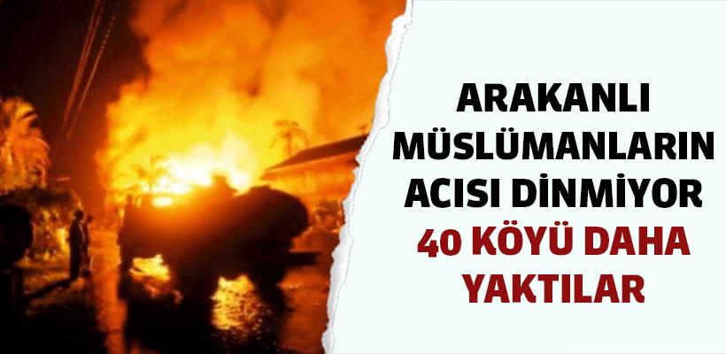 Müslümanlara ait 40 köy daha yakıldı