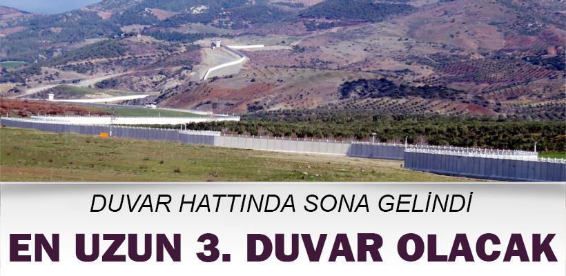 Türkiye-Suriye sınırındaki duvar hattında sona gelindi
