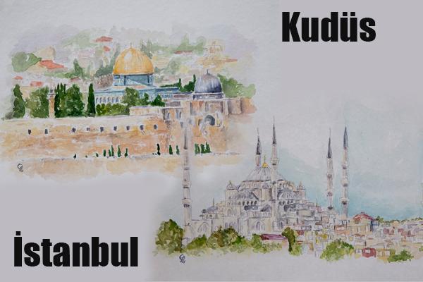 Fatih ve Selahaddin Eyyubi'nin Şehirleri Tuvale Yansıdı