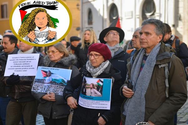 Roma'da Ahed Tamimi'ye Özgürlük eylemi