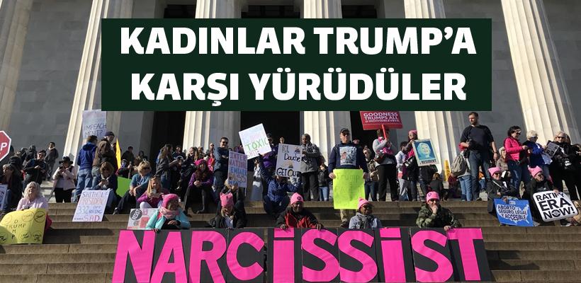 ABD`de Trump karşıtı Kadınlar Yürüyüşü