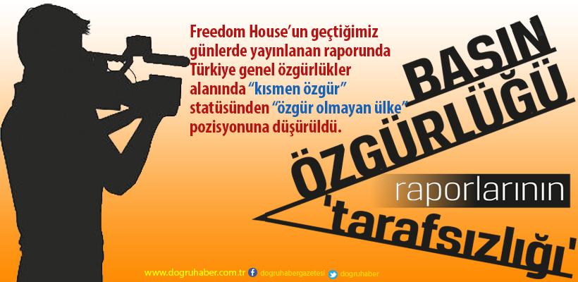 Basın özgürlüğü raporlarının `tarafsızlığı`