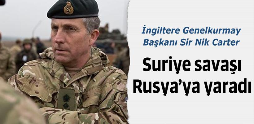 İngiliz komutan: Suriye savaşı Rusya`ya yaradı