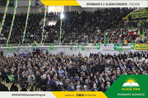 HÜDA PAR Diyarbakır 2. İl Kongresi yapıldı