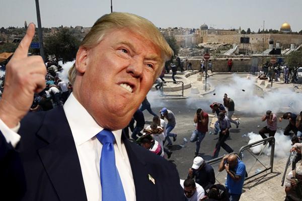 Trump 19 Filistinlinin kanına girdi