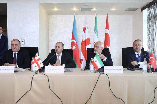 Türkiye-Azerbaycan-Gürcistan-İran Dışişleri Bakanları Toplantısı