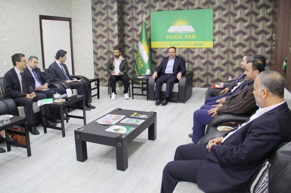 Beş ülke büyükelçiliğinden oluşan heyet HÜDA PAR`ı ziyaret etti