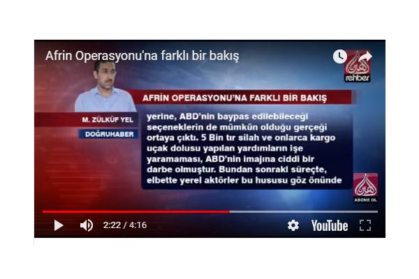 Afrin Operasyonu`na farklı bir bakış