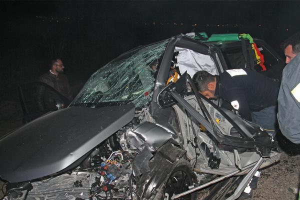 Meydana gelen kazada 3 ölü, 2 yaralı