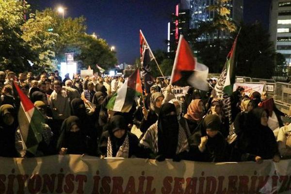'israil elçiliklerini ve NATO üslerini kapatın'