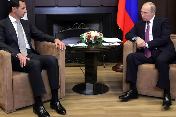 Putin ile Esed Soçi`de bir araya geldi