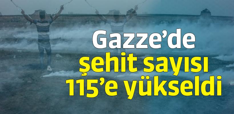 Gazze`de şehit sayısı 115`e yükseldi