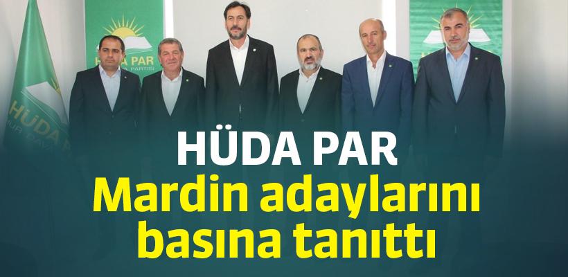 HÜDA PAR Mardin adaylarını basına tanıttı