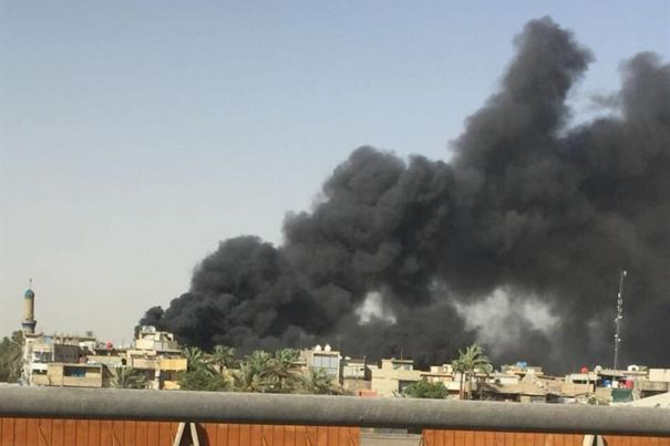 Fire at the ballot warehouse in Iraq