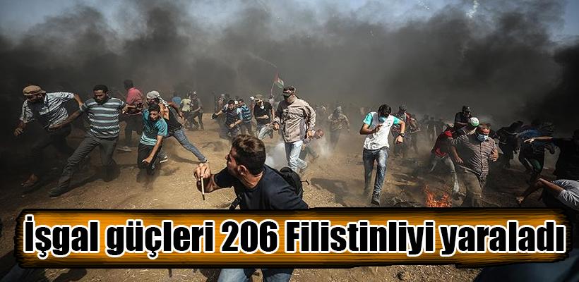 İşgal güçleri Gazze sınırında 206 Filistinliyi yaraladı