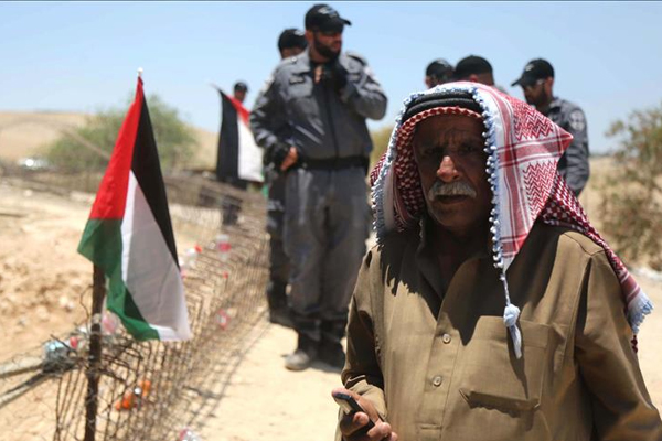 Filistinli aşiretlerden işgal rejimine Han el-Ahmer tepkisi
