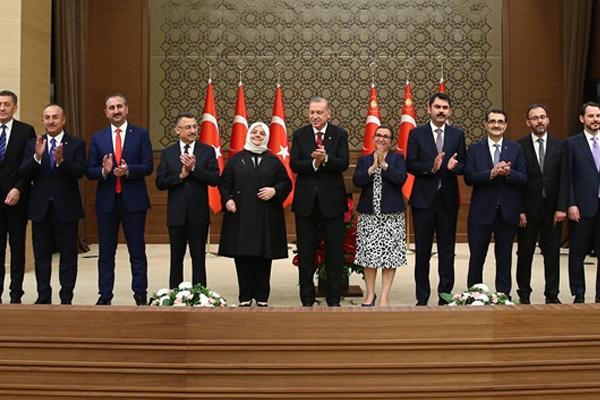 Cumhurbaşkanı Erdoğan yeni kabineyi ilk kez değerlendirdi
