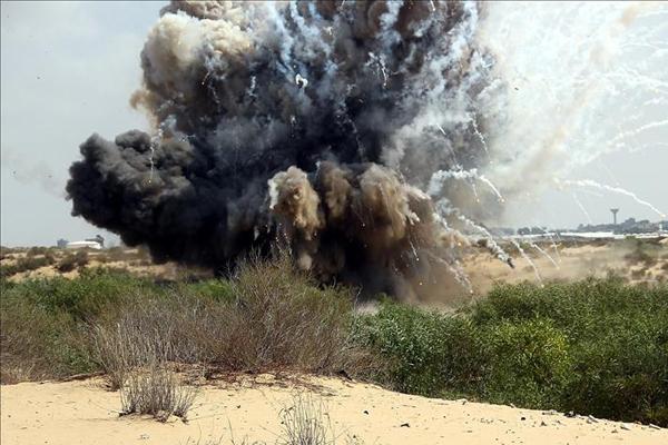 İşgal rejiminden Gazze sınırına roket saldırısı