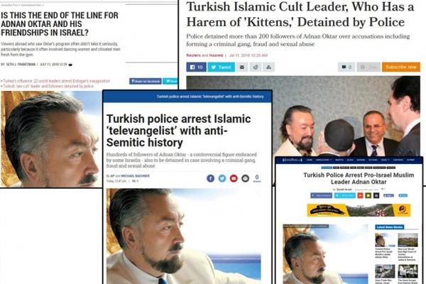İşgalci israil basınının Adnan Oktar ilgisi şaşırtmadı