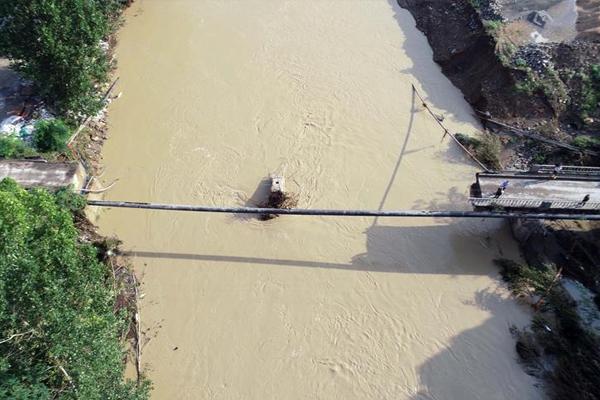 Cevizdere Köprüsü sel sonrası havadan görüntülendi