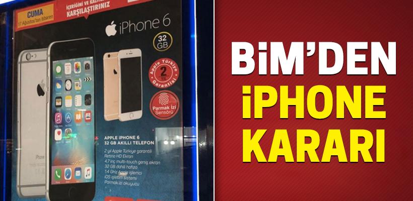 BİM, iPhone satışını durdurdu