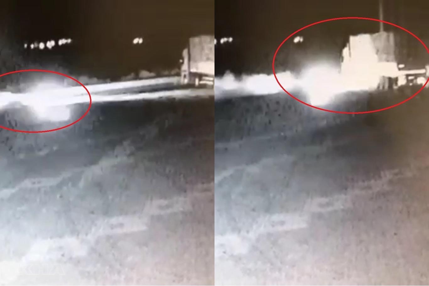 3 kişinin öldüğü kaza güvenlik kamerasına yansıdı