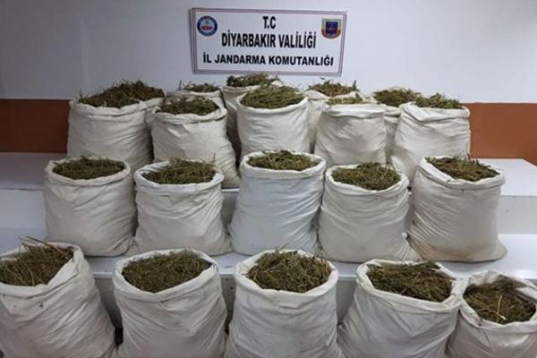 Lice ve Hani`de yüklü miktarda uyuşturucu madde ele geçirildi