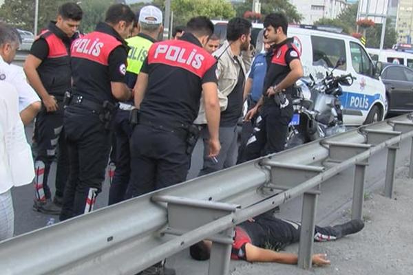 Motosikletli polisler kaza yaptı!