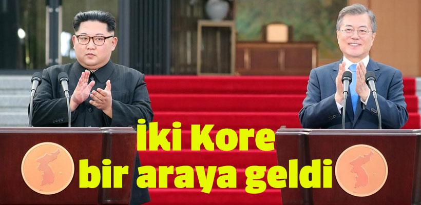 İki Kore bir araya geldi