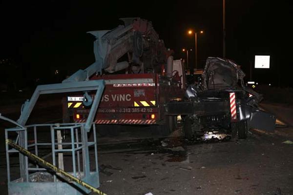 Ankara`da trafik kazası: 3 ölü