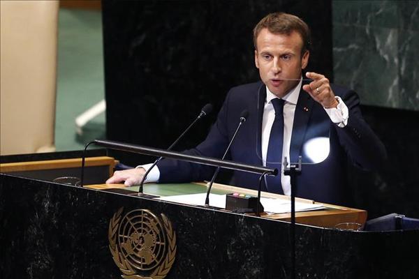 Macron: Suriye konusunda ABD`nin pozisyonunda değişiklikler var
