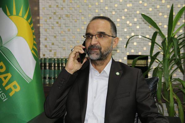 Karamollaoğlu'dan HÜDA PAR Genel Başkanı Sağlam'a tebrik telefonu