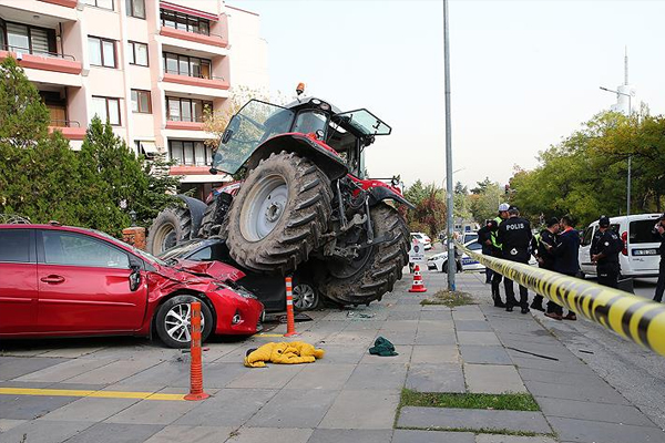 Başkentte `traktör` alarmı