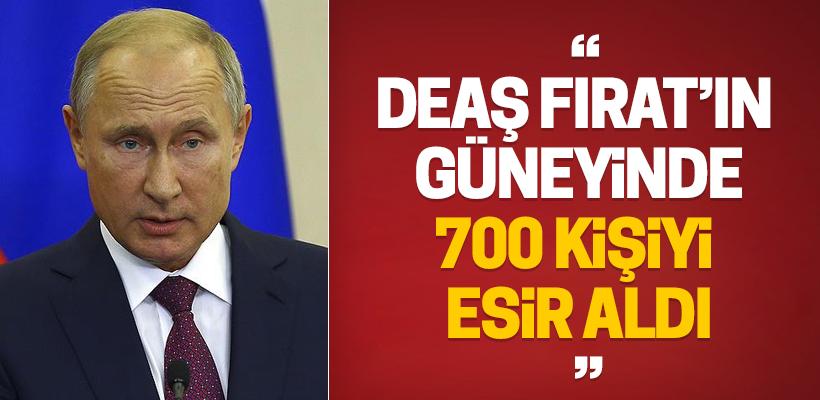 Putin: DEAŞ Suriye`de ABD ve Avrupa vatandaşlarını esir aldı