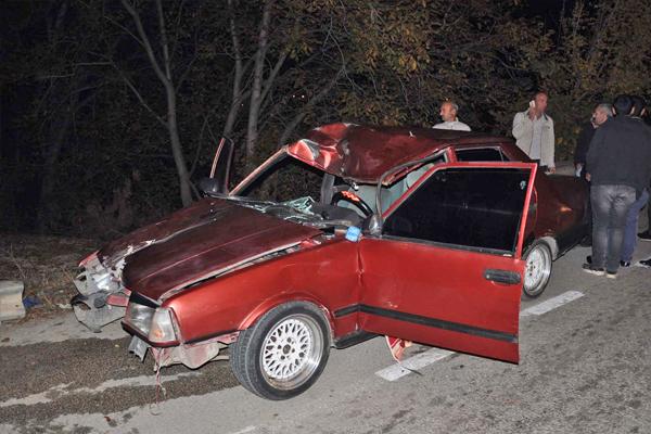 Yaşanan trafik kazasında 1 ölü, 2 yaralı