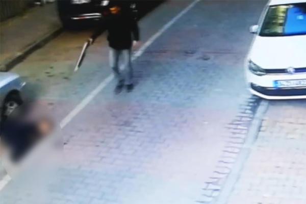 Lise öğrencisinin vurulma anı kamerada