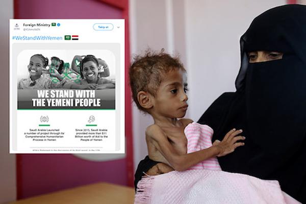 S.Arabistan'dan tepki çeken paylaşım: Yemen'in yanındayız