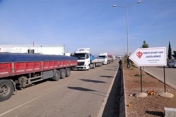 Kayseri`den Suriyelilere yardım