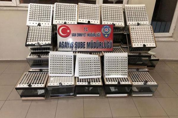 38 adet Tombala makinası ele geçirildi