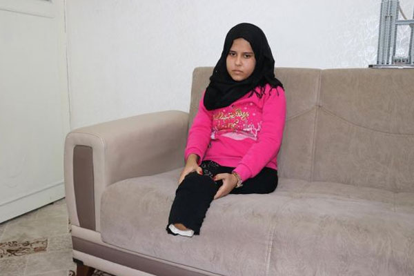 Suriyeli Meryem`in tek isteği protez bacaklar