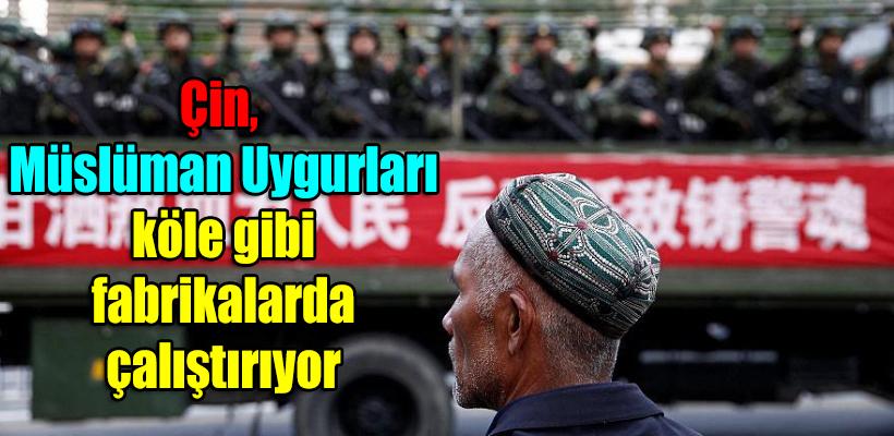 Çin, Müslüman Uygurları köle gibi fabrikalarda çalıştırıyor