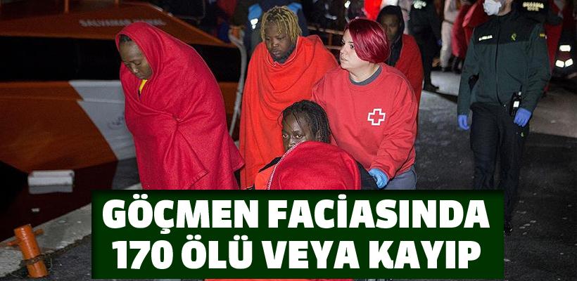 Akdeniz`de göçmen faciaları: 170 ölü veya kayıp