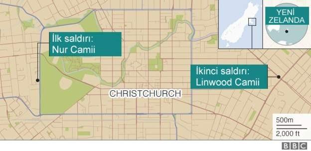 Yeni Zelanda'da camilere saldırı: 49 kişi hayatını kaybetti