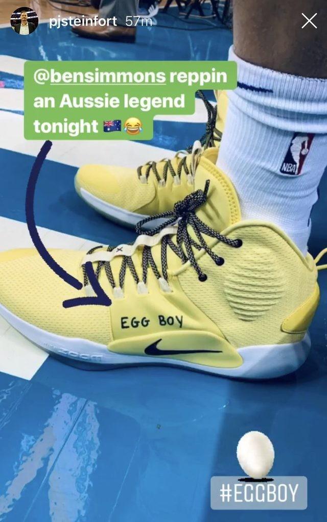 """NBA yıldızı """"Yumurta Çocuk"""" yazılı ayakkabıyla oynadı"""