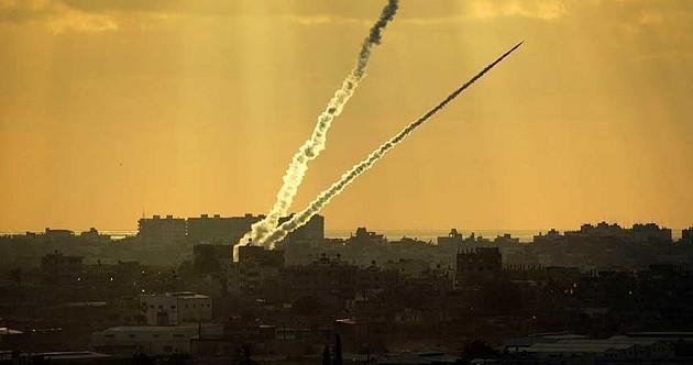 gazze'den israile füze