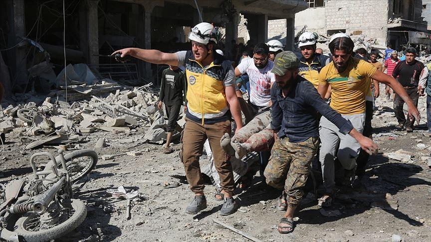 Sivil Savunma (Beyaz Baretliler) kaynaklarından alınan bilgiye göre, İdlib'in Marratinnuman ilçesindeki pazar yerine düzenlenen hava saldırısında ölen sivillerin sayısı 25'ten 31'e yükseldi.