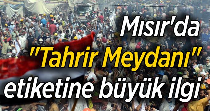 """Mısır'da """"Tahrir Meydanı"""" etiketine büyük ilgi"""