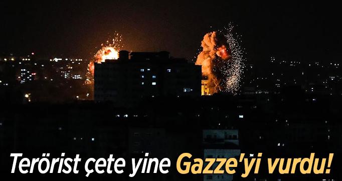 Terörist çete yine Gazze'yi vurdu!
