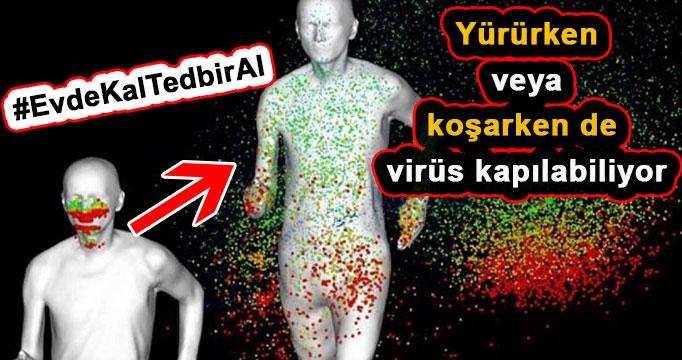 Yürüme veya koşma esnasında da virüse yakalanabilirsiniz