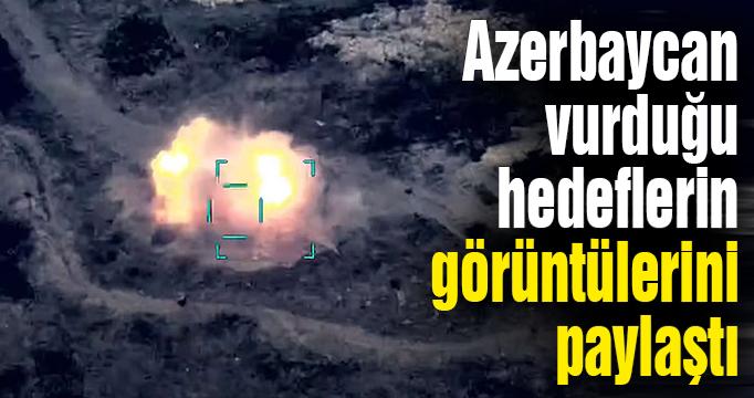 Azerbaycan, imha ettiği Ermenistan hedeflerinin görüntülerini paylaştı